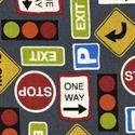 Bild på Tyg med trafikmärken